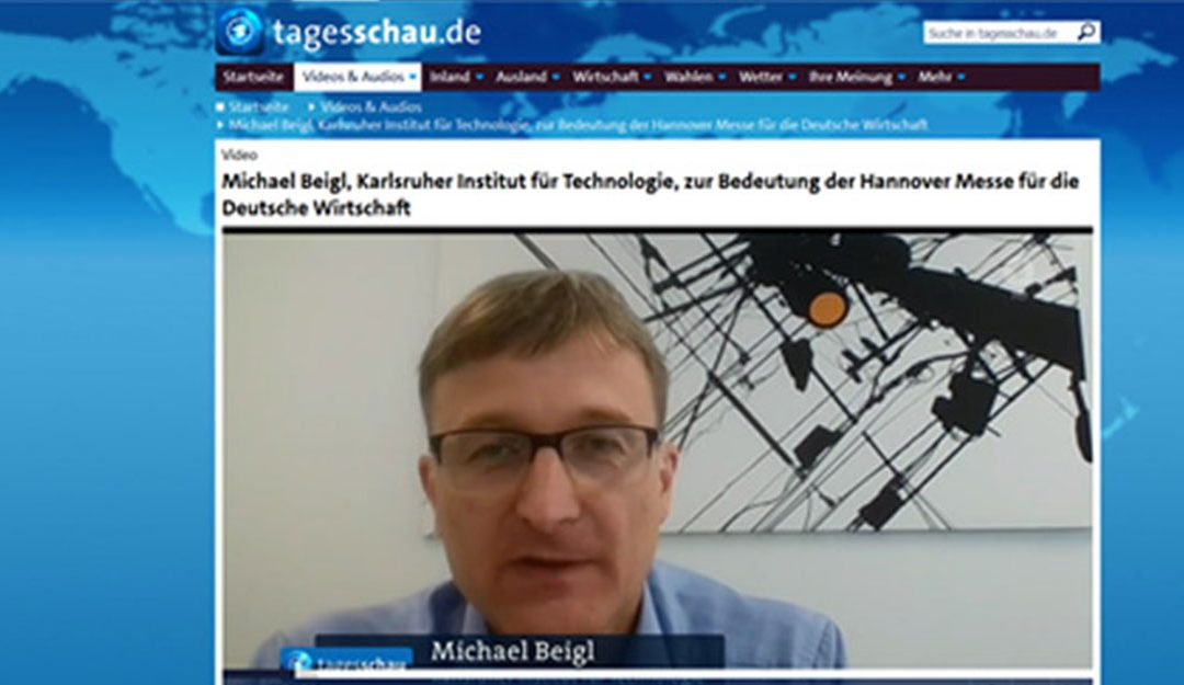 26.04.2018  Prof. Dr. Michael Beigl vom KIT in der Tagesschau