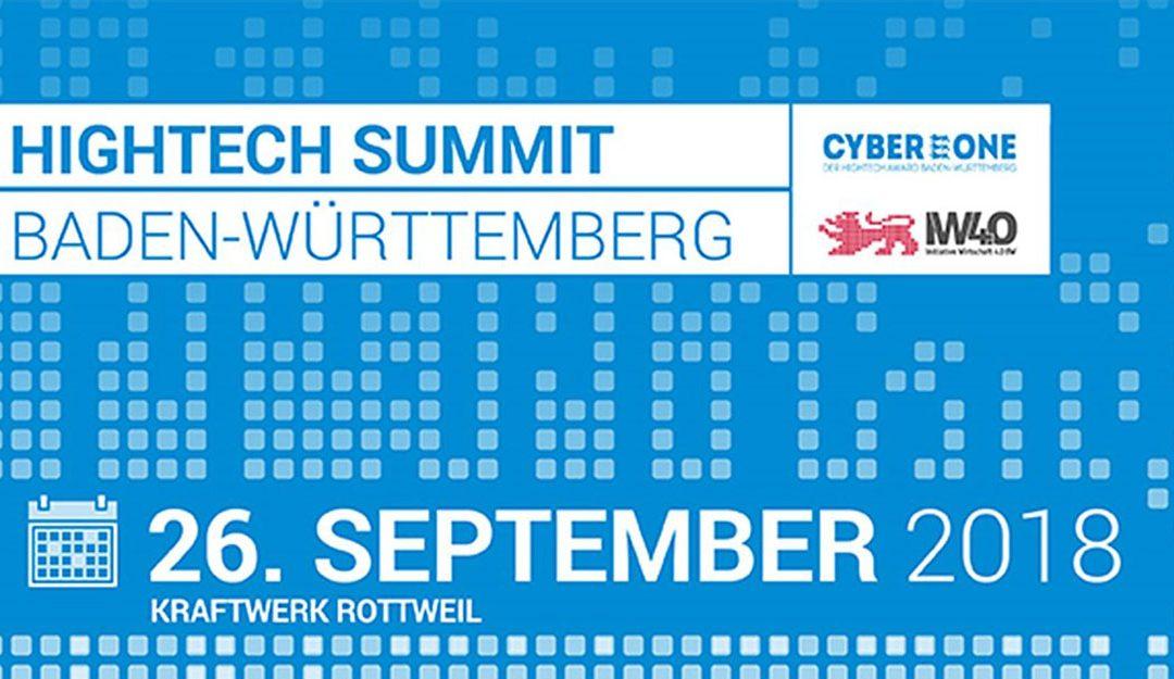 26.09.2018  Hightech Summit Baden-Württemberg