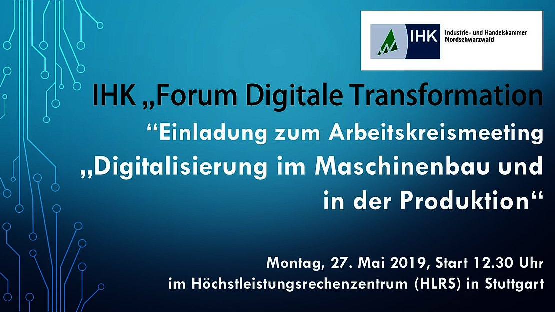 27.05.2019  SAVE THE DATE – IHK-Forum Digitale Transformation
