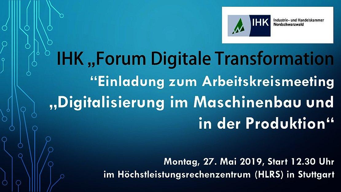 27.05.2019  SAVE THE DATE – IHK-Forum Digitale Transformation