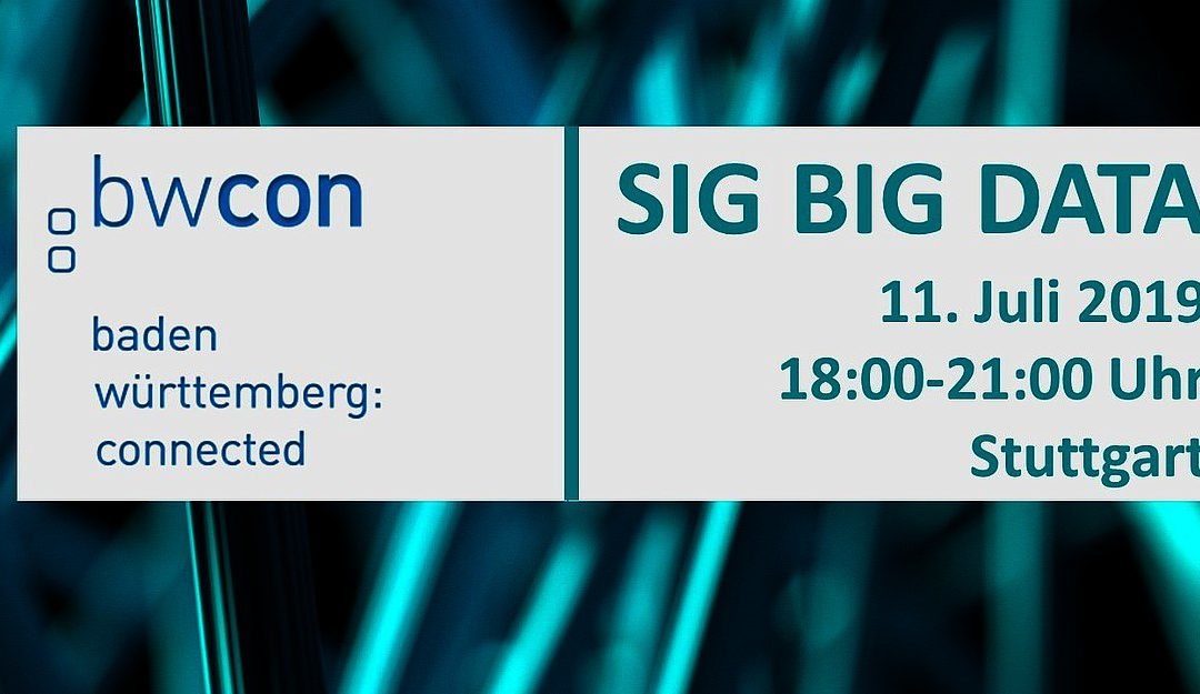 11.07.2019:  SIG Big Data