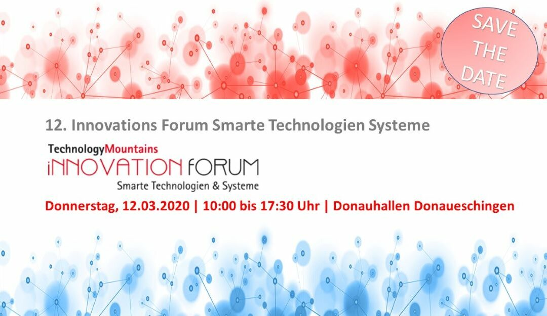 12.03.2020  12. InnovationForum Smarte Technologien & Systeme