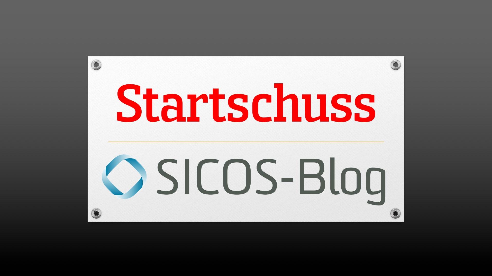 21.04.2020   Startschuss: Unser neuer Sicos Blog ist online!