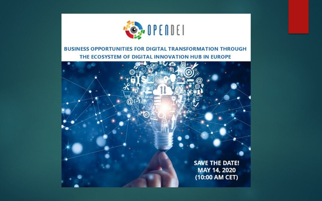 14.05.2020  Business opportunities for digital transformation through the ecosystem of digital innovation hub in Europe
