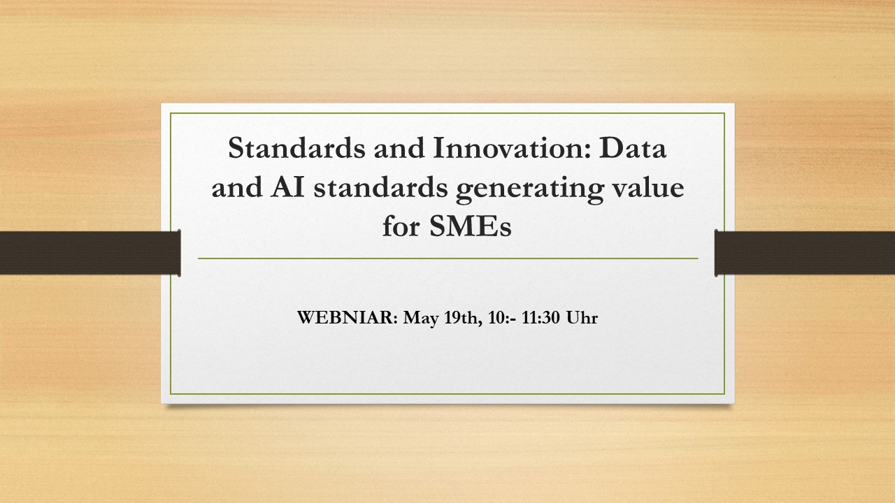 Standards and Innovation: Data and AI standards generating value for SMEs