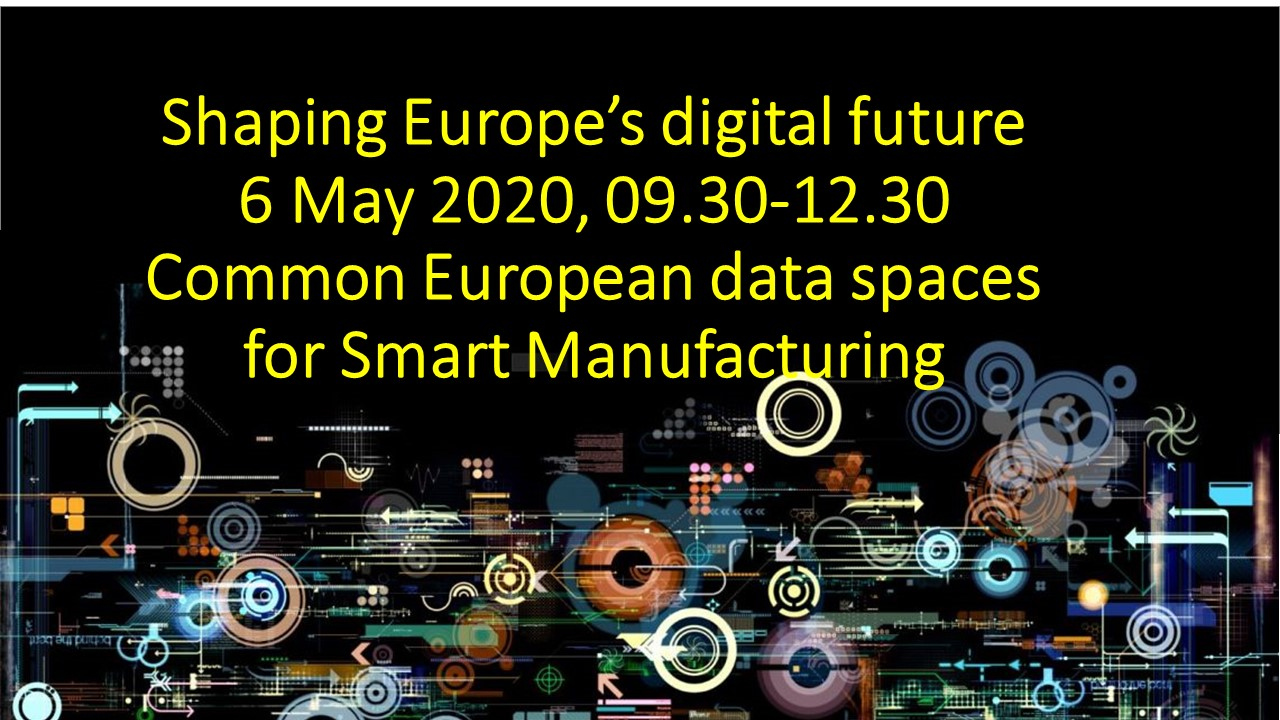 Common European data spaces for Smart Manufacturing