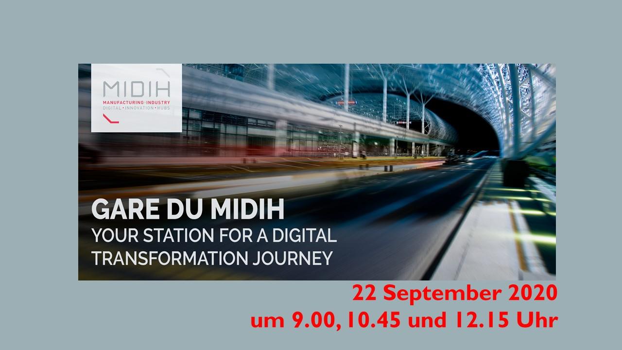 La Gare du MIDIH – Discover MIDIH insights for bridging Digital Manufacturing Platforms and Digital Innovation Hubs.