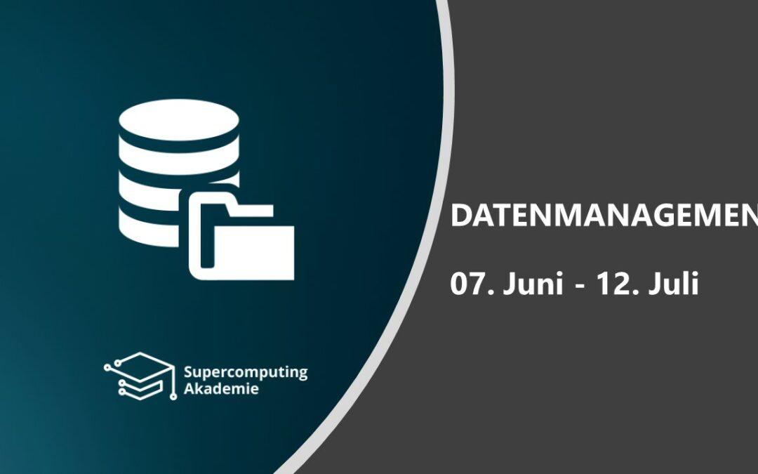 Melden Sie sich zum Modul Datenmanagement an